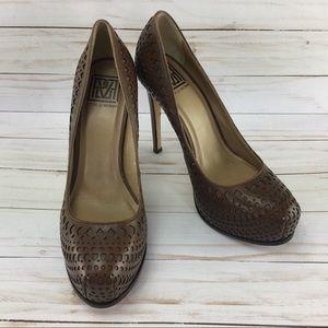 Pour La Victoire Platform heels Brown Size 8